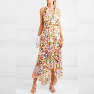 NWT Alice + Olivia EVELIA RUFFLE MAXI DRESS